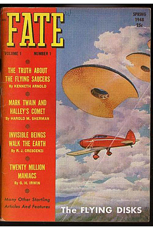 Fate Magazine cover with Flying Saucers